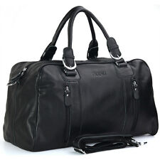 Men's Lady Leather Duffle Travel Gym Bag Tote Luggage Messenger Bag Carry On
