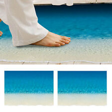 Removable 3D Beach Wall Decal Mural Room Decor Floor Sticker Decoration DRP