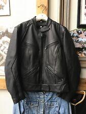A Nice Ladies Leather Motorcycle Biker Jacket. Size 12
