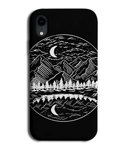 Mandala Mountains Phone Case Cover Mountain Shapes Outline Drawing Print M553