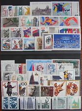 Germany Complete Year 1989 Stamp Set + C/Ds Mint Never Hinged MNH German Stamps