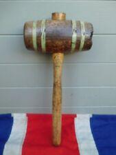 Piccolo Antico Vintage PRIMITIVI GIOSTRE circo in legno martello martello