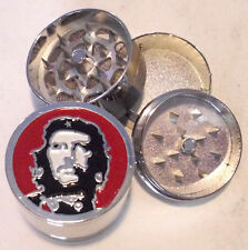 HERB GRINDER Large Che Guevara Metal Magnetic  Screen 3 Piece 40mm QUALITY