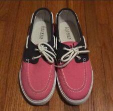 Ralph Lauren NWOT Bristol Pink & Navy Coat Canvas Boat Topsider Shoes SIZE 9