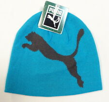 Puma Jump Cat Blue Knit Beanie Skull Cap Adult One Size NWT