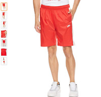 nike shiny wet look  silky nylon  red white pride   track shorts  BNWT large