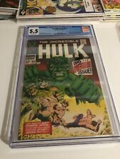 INCREDIBLE HULK #102 CGC 5.5 Off White Pages Premiere Issue of the Hulk run.