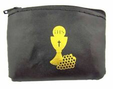Black First Communion Rosary Case (TS360)