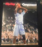 ED DAVIS SIGNED 8X10 PHOTO UNC NORTH CAROLINA NCAA NBA W/COA+PROOF RARE WOW