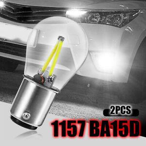 2Pcs 1157 BA15D 12V COB LED Cars Reverse Backup Tail Brake Light Lamp Bulb