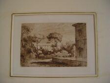 «Paisaje» grabado por L. Gaucherel (1816-1886) after Claude Lorrain.