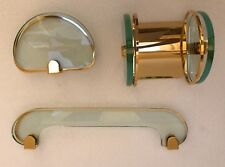 set bagno completo Fonata Arte vetro cristallo ottone