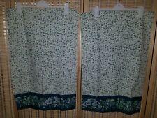 "Lot of 2 Vintage 90's Laura Ashley ""Bramble"" Blue & Green Floral Pillowcases EUC"