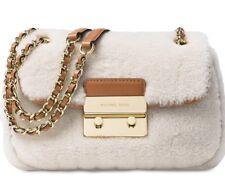 Michael Kors Sloan Small Chain Shoulder Bag Shearling Natural Walnut Purse