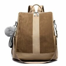 Women Suede Leather Backpack Female Casual Leisure Zipper Travel School Bags
