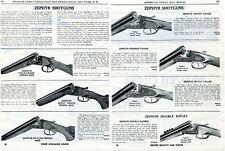 1950 2pg Print Ad of Zephyr Shotguns 400E 401E 402E 404E 406E 410E 420E