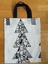 Handmade small tote bag from Marimekko Kuusikossa Christmas fabric