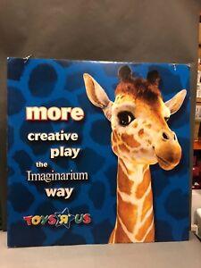Toys R Us Store VINTAGE GEOFFREY Sign Memorabilia 46X46 2-SIDED SIGN SHELF 1