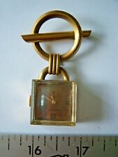 Vintage Art Deco Brooch Watch Crawford Nurse Watch Hand-Wind Free Shipping