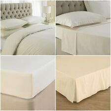 LUXURY FITTED/ FLAT / VALANCE SHEETS HOTEL QUALITY DUVET COVER QUILT BEDDING SET