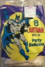 """(8) 1989 Batman Big - 15"""" DC Comics Party Balloons by Unique  NOS"""