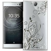 "Coque Crystal Gel Pour Sony Xperia XA2 (5.2"") Souple Love Hearts Flowers"
