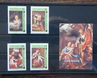 Grenada 1984 450th Death Anniversary of Correggio set & Miniature Sheet MNH
