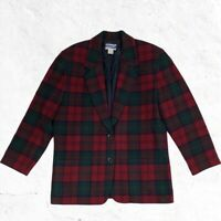 Pendleton KNOCKABOUTS Wool Jacket Blazer Plaid Womens 100% Virgin Wool