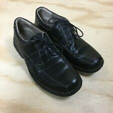 Clarks Black Leather Lace Up Bicycle Toe Casual Oxford Shoes Men's 9 M