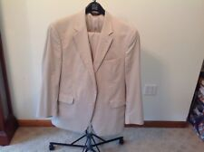 Jos.A.Bank suit 2 Pc. Lightweight tan Sz 42R pleated pants 38W