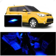 For Kia Soul 2014-2016 Blue LED Interior Kit + Blue License Light LED