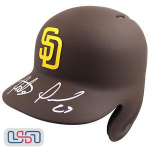 Fernando Tatis Jr. Padres Signed Full Size Matte Brown Batting Helmet JSA Auth