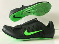 Nike Zoom LJ 4 Long Jump Pole Vault Spikes Black Green Men's Size 12