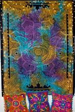Indian Tapestry Mandala WallHanging Throw Bed Tapestries Fatima Hand Multi Large