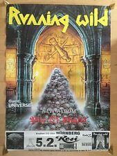 RUNNING WILD 1992 NÜRNBERG   orig.Concert Poster - Konzert Plakat   A1 xx