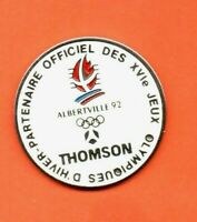 Pin's lapel pin pins JEUX OLYMPIQUES ALBERTVILLE 92 THOMSON Olympic games Signé