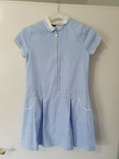 George Blue & White Check School Dress Age 10-11 Years