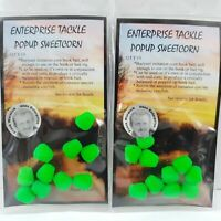 2 x Packets Enterprise Tackle Pop Up Sweetcorn Carp Bait for size 8 hooks - 20pc
