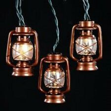 "Kurt Adler ""10L BRASS LANTERN LIGHT SET"" NEW ~ MIB ~ Great For Cabin Decor!"