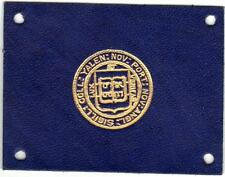 1910 Tobacco Cigarette Leather Yale University Gold Seal on blue 4 Holes