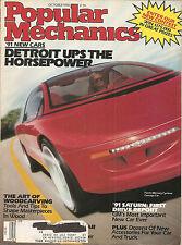 Popular Mechanics Oct 1990 - 1991 Saturn - Woodcarving - F-80 Shooting Star