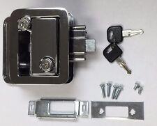 FIC 43610 CHROME DOOR LOCK 2 Keys Deadbolt RV Travel Trailer Flush Mount Fastec
