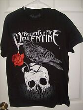 BULLET FOR MY VALENTINE SKULL CROW COTTON T-SHIRT MEN'S LARGE NEW SPENCER'S