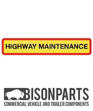 """+ Camion & Rimorchio Posteriore Marker BOARD """"AUTOSTRADA"""" di manutenzione in alluminio BP76-104"""