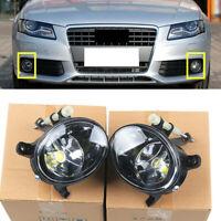 Fit For Audi A4 B8 Sedan 08-12 Q5 09-16 Front Bumper LED Bulb Fog Light Foglamp