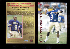 1995 Pacific Gridiron STEVE MCNAIR Houston Oilers Rare Rookie Red Foil Card