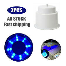 2Pcs Plastic 8LED Blue Light Cup Drink Holder for Marine Boat Car Truck Camper