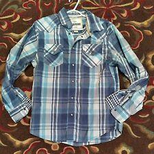 Ditch Plains Mens Blue/White Plaid Shirt