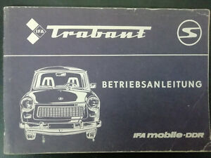 DDR IFA BETRIEBSANLEITUNG HANDBUCH TRABANT 601 !!!