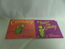 "LOT OF 2 CORDUROY PB CHILDRENS BOOKS ""CORDUROY"" A POCKET FOR CORDUROY"""